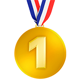 1st Place Medal Emoji on Apple macOS and iOS iPhones