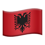 Flag: Albania Emoji on Apple macOS and iOS iPhones