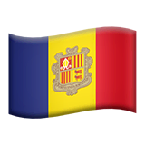 Flag: Andorra Emoji on Apple macOS and iOS iPhones