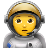 Astronauta en Apple macOS y iOS iPhones