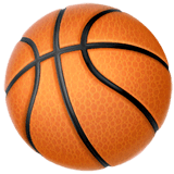 Pelota de baloncesto en Apple macOS y iOS iPhones