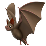 Bat Emoji on Apple macOS and iOS iPhones