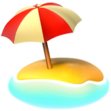 Beach With Umbrella Emoji on Apple macOS and iOS iPhones