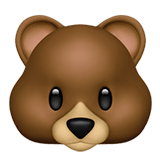 Bear Emoji on Apple macOS and iOS iPhones