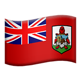 Flag: Bermuda Emoji on Apple macOS and iOS iPhones