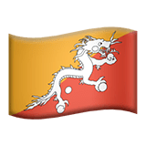 Flag: Bhutan Emoji on Apple macOS and iOS iPhones