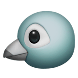 Bird Emoji on Apple macOS and iOS iPhones