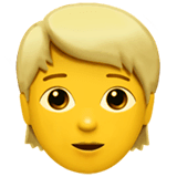 Person: Blond Hair Emoji on Apple macOS and iOS iPhones