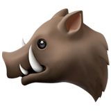 Boar Emoji on Apple macOS and iOS iPhones
