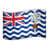 Bandeira do Território Britânico do Oceano Índico nos iOS iPhones e macOS da Apple
