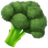 Broccoli Emoji on Apple macOS and iOS iPhones