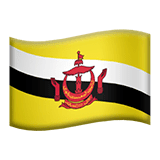 Bandeira do Brunei nos iOS iPhones e macOS da Apple