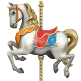 Carousel Horse Emoji on Apple macOS and iOS iPhones