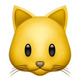 Cat Face Emoji on Apple macOS and iOS iPhones