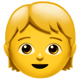 Child Emoji on Apple macOS and iOS iPhones