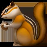 Бурундук Эмодзи на Apple macOS и iOS iPhone