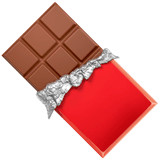 Chocolate Bar Emoji on Apple macOS and iOS iPhones