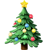 Christmas Tree Emoji on Apple macOS and iOS iPhones