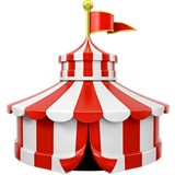 Circus Tent Emoji on Apple macOS and iOS iPhones