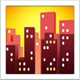 Cityscape at Dusk Emoji on Apple macOS and iOS iPhones