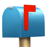 Closed Mailbox With Raised Flag Emoji on Apple macOS and iOS iPhones