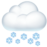 Nube con nieve en Apple macOS y iOS iPhones