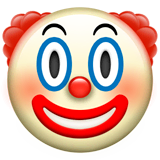 Clown Face Emoji on Apple macOS and iOS iPhones