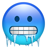 Cold Face Emoji on Apple macOS and iOS iPhones