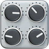 Control Knobs Emoji on Apple macOS and iOS iPhones