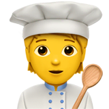 Cook Emoji on Apple macOS and iOS iPhones