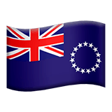 Flag: Cook Islands Emoji on Apple macOS and iOS iPhones