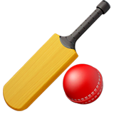 Mazza e pallina da cricket su Apple macOS e iOS iPhones