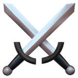 Crossed Swords Emoji on Apple macOS and iOS iPhones