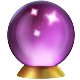 Crystal Ball Emoji on Apple macOS and iOS iPhones