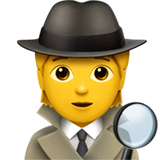 Detective Emoji on Apple macOS and iOS iPhones
