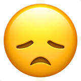 Disappointed Face Emoji on Apple macOS and iOS iPhones