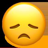 Enttäuschtes Gesicht Emoji auf Apple macOS und iOS iPhones