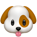 Dog Face Emoji on Apple macOS and iOS iPhones