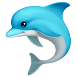 Dolphin Emoji on Apple macOS and iOS iPhones