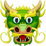 Dragon Face Emoji on Apple macOS and iOS iPhones