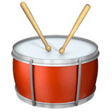 Drum Emoji on Apple macOS and iOS iPhones