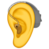 Ear With Hearing Aid Emoji on Apple macOS and iOS iPhones