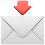Envelope With Arrow Emoji on Apple macOS and iOS iPhones
