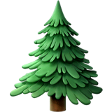 Evergreen Tree Emoji on Apple macOS and iOS iPhones