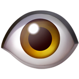 Eye Emoji on Apple macOS and iOS iPhones