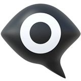 Eye In Speech Bubble Emoji on Apple macOS and iOS iPhones