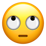 Face With Rolling Eyes Emoji on Apple macOS and iOS iPhones