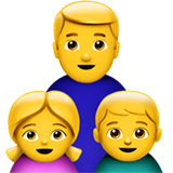 Family: Man, Girl, Boy Emoji on Apple macOS and iOS iPhones