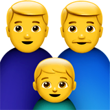 Family: Man, Man, Boy Emoji on Apple macOS and iOS iPhones