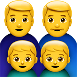 Family: Man, Man, Boy, Boy Emoji on Apple macOS and iOS iPhones